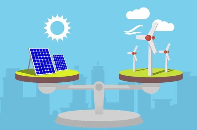 energia solar-energia eólica-diferenças
