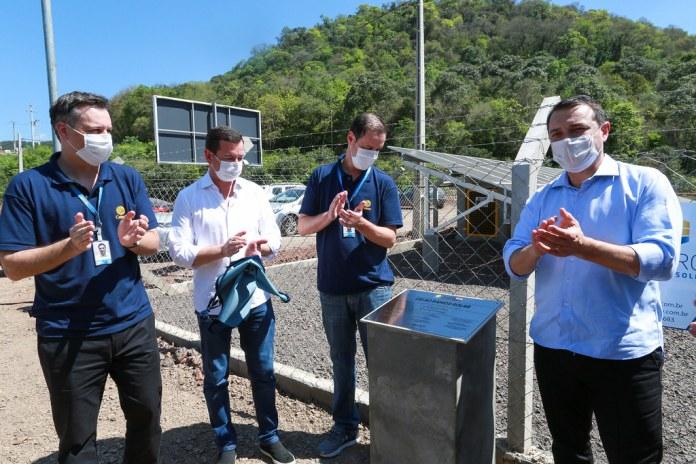 Inauguração da 1ª Usina Solar da Celesc, fonte de energia renovável e energia limpa para o estado